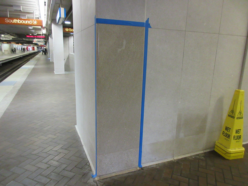 Concrete wall after Microguard